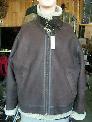 type B-3 B3 Shearling Bomber Flight leather Jacket brown