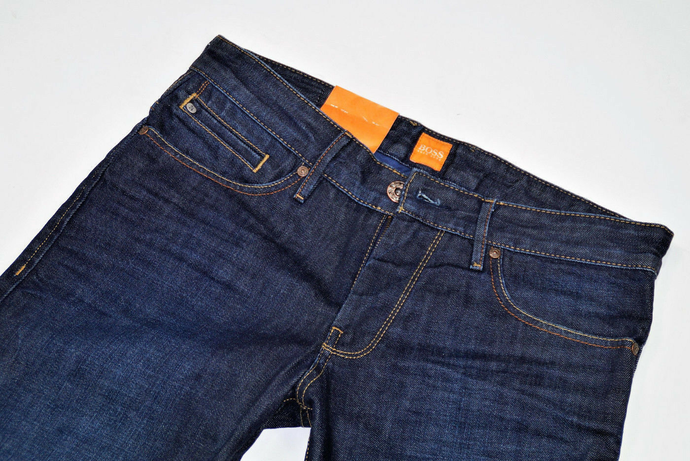 Hugo Boss-w31 l34-naranja 24  barcelona Moonlight-regular fit jeans 31 34  diseñador en linea
