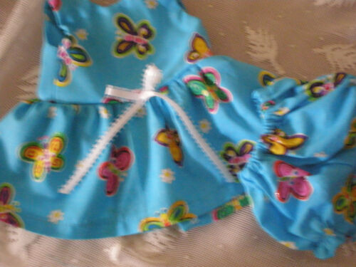 DOLL CLOTHES 4 BABY ALIVE SUN DRESS W//PANTIES BITTY turquoise