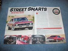 "1968 Chevy Nova Speed Tech Performance Track Test Info Article ""Street Smarts"""