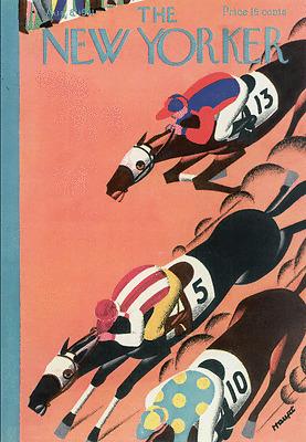 Deco horse race by Haupt 1931 art poster print  SKU2642