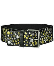Belt BKE The Buckle  Multi Stud Belt •Faux leather high waist stretch belt NWT