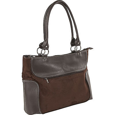 Venetian Ladies Women Brown Casual Tote Bag Business Zip-Top Laptop Case Handbag