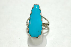 Ladies-large-Sleeping-Beauty-Turquoise-ring-Sterling-silver-signed