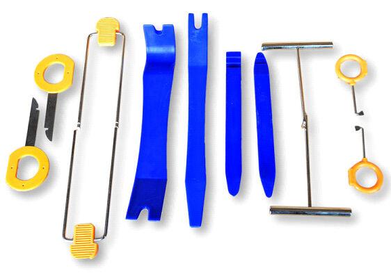 12 Piece Upholstery Trim Removal Tool Set to Remove Car/Van Interior Door Panels