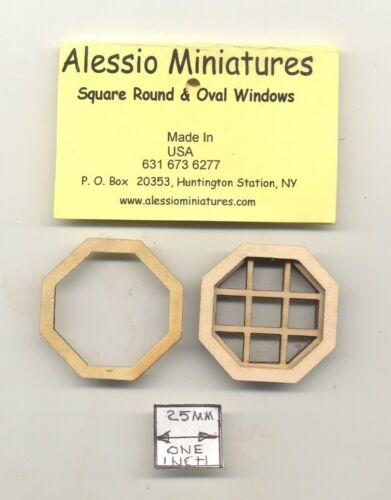 2134 wooden dollhouse miniature 1:12 scale USA made Window Octagon Attic