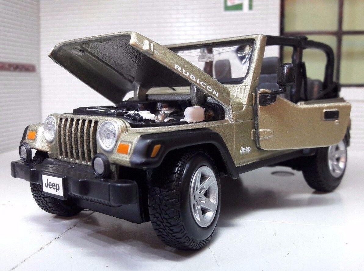 Jeep Rubicon Wrangler 4x4 LGB G 1 24 27 Scale Detailed Diecast Maisto Model
