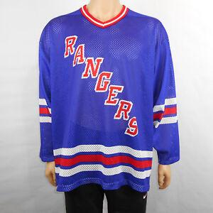 VTG-CCM-New-York-Rangers-Mens-Mesh-Jersey-Maska-Made-in-USA-NHL-Hockey-Size-XL