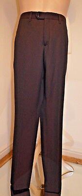 """Uomo Ted Baker """"paretro"""" Profondo Rosso Vivo Pantaloni Su Misura Nuovo Con Etichetta 30 R Rrp £ 119-mostra Il Titolo Originale"""