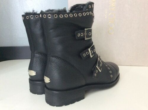 Ankle Darkle £900 Jimmy 3 Uk Leather Black Eu36 Sheepskin Boots Choo Lined Rrp qE55Zw6xgO