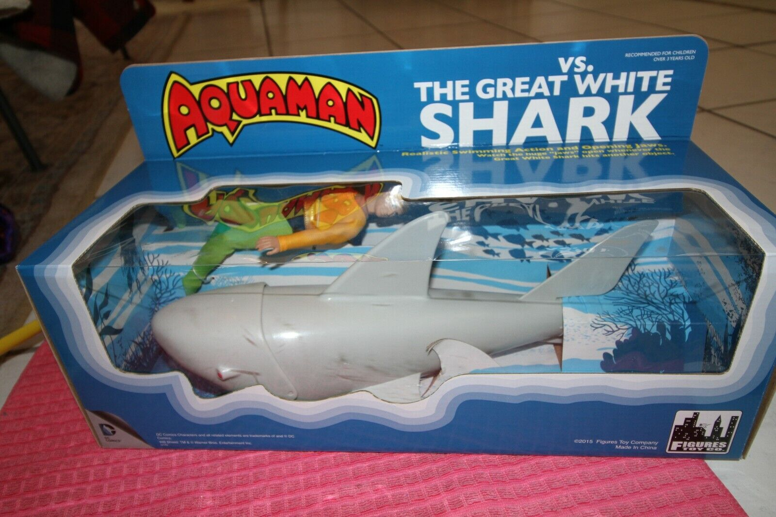DC Comics Aquaman VS. The Great Weiß Shark Retro Playset by FTC NIB