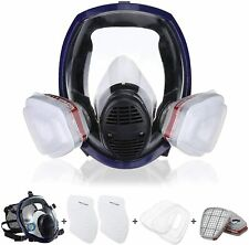 Medium Size Full Face Gas Mask Respirator Facepiece 15 In 1 Set Work Protection