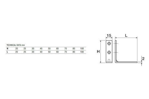 10//50//100 Stuhlwinkel Winkelverbinder Metallwinkel Möbelwinkel Eckplatte 60x60mm