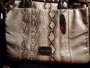 Chinese Laundry Snake Computer Bag (Brown)