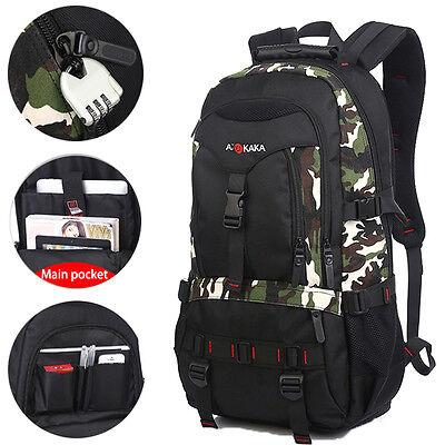KAKA Mens Outdoor Waterproof Hiking Travel Backpacks Shoulder Rucksack Bags CAMO