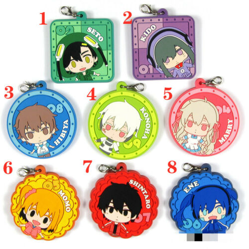 Anime Kagerou Project rubber keychain Key Ring Race Straps