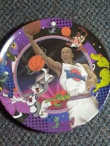 RARE-Vintage-1996-WB-Space-Jam-Plate-Tune-Squad-Michael-Jordan-Bugs-Bunny-Zak