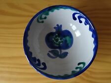 Vintage Sain Spanish Blue and Green San Isidro Glazed Ceramic Bowl Plate