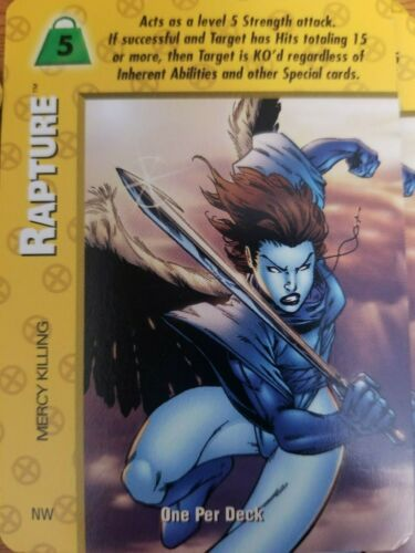 Marvel Overpower X-Men Rapture Mercy Killing NrMint-Mint Condition Card