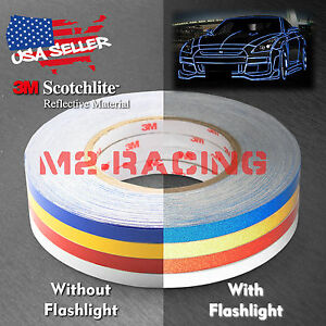 3M Reflective Tape Safety Self Adhesive Striping Sticker Decal 150FT / Roll 1CM