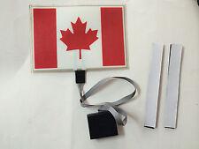 SOUND Activated CANADA CANADIAN FLAG LED Light UP FLASHING TSHIRT PANEL SENSER
