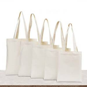 Image Is Loading Creamy White Cotton Canvas Gift Bag Plain Ping