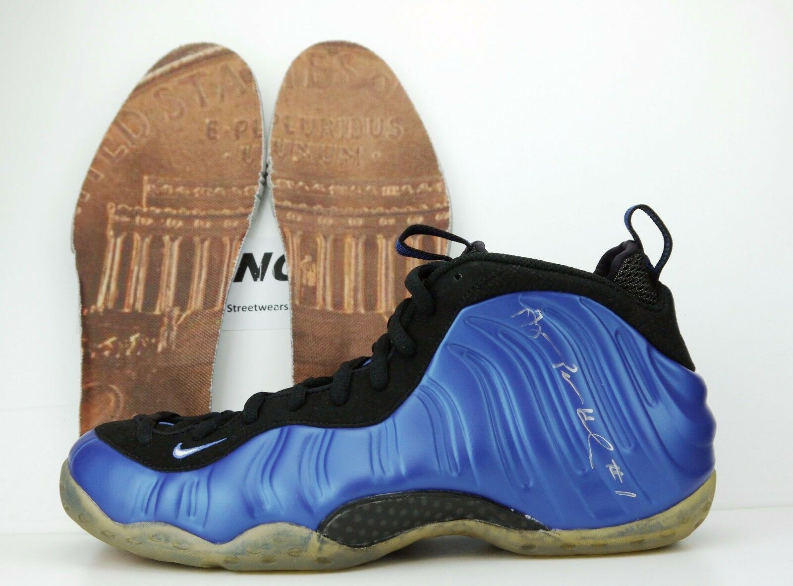 2008 Vintage Nike Air Foamposite One Royal HOH Penny Signed 314996 512 11.5