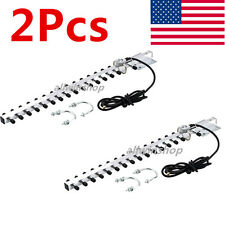 2x RP-SMA 2.4GHz 25 DBi Yagi Wireless WiFi Antenna For Modem PCI Card Router USA