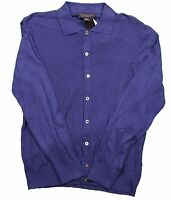 The Men's Store Button Front Navy L/s Shirt In M, L, Xl Msrp $198