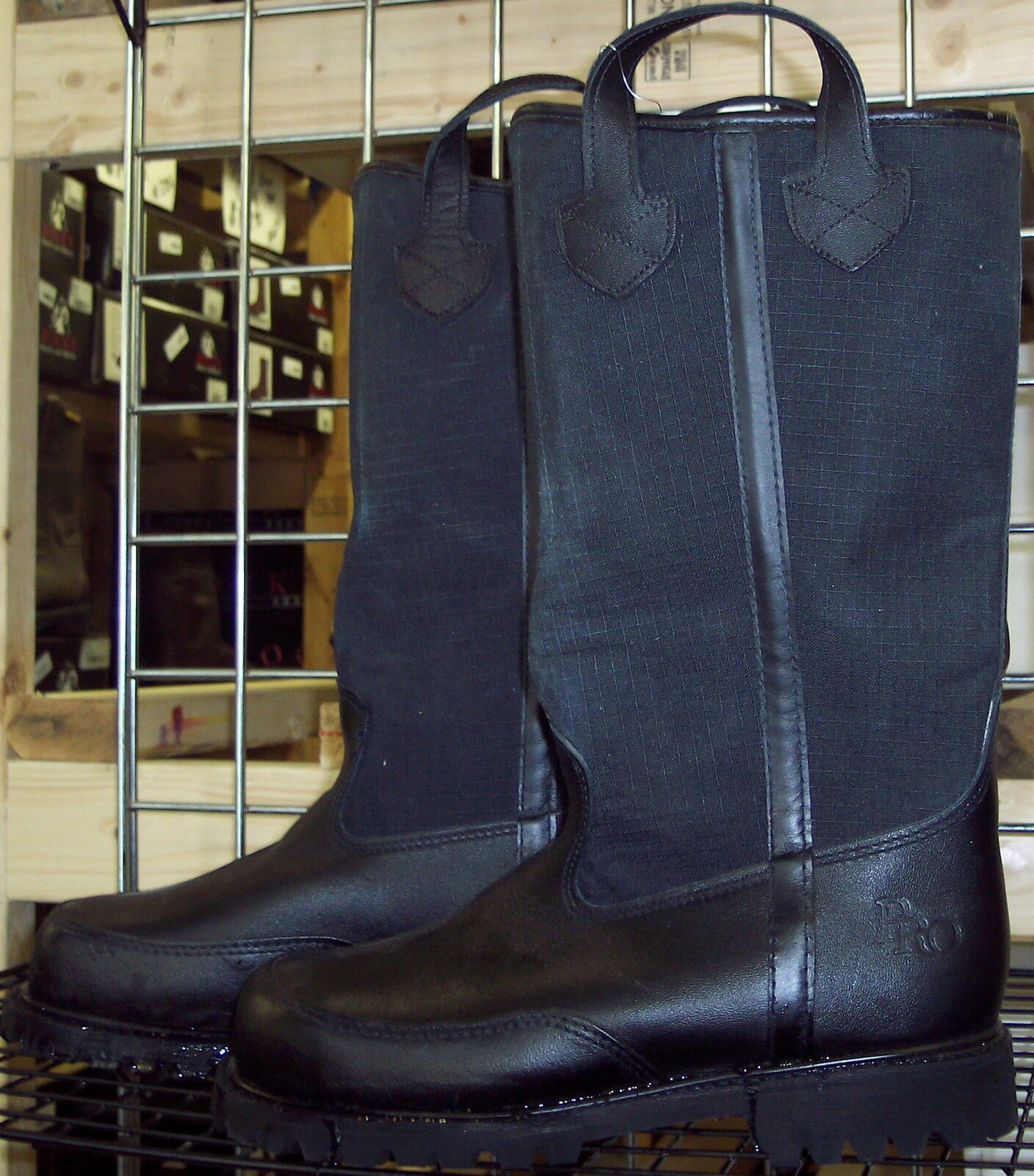 FIREFIGHTER SIZE BOOTS 4132 PRO-WARRINGTON FACTORY SECOND SIZE FIREFIGHTER 10D FREE SHIPPING 0f74e4