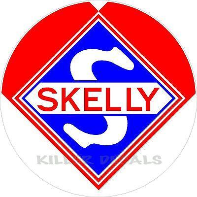 """SKEL-5 12/"""" SKELLY KEOTANE GAS DECAL LUBSTER GASOLINE PUMP OIL SIGN STICKER"""