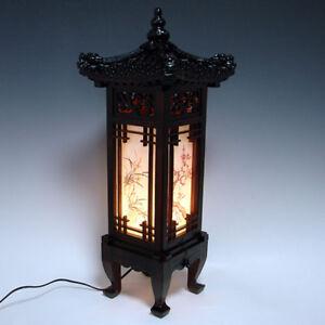 Image Is Loading Wood Shade Asian Oriental House Lantern Bedside Dragon