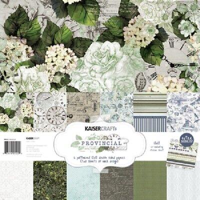 """Hartig Kaisercraft 'provincial' 12x12"""" Paper Pk + Stickers Floral/flowers Kaiser Zonder Terugkeer"""