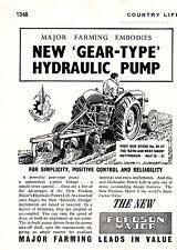 1952 FORDSON MAJOR TRACTORS Authentic Quarter Page VINTAGE MAGAZINE AD