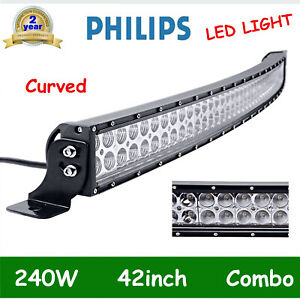 CURVED-42INCH-240W-LED-WORK-LIGHT-BAR-SPOT-FLOOD-TRACTOR-OFF-ROAD-BOAT-PK-40-44-034