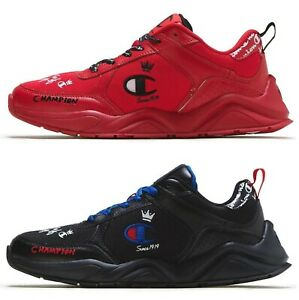 77d6405f7 Details about New CHAMPION Classic KING Logo C Mens 93 Eighteen Sneakers  black red