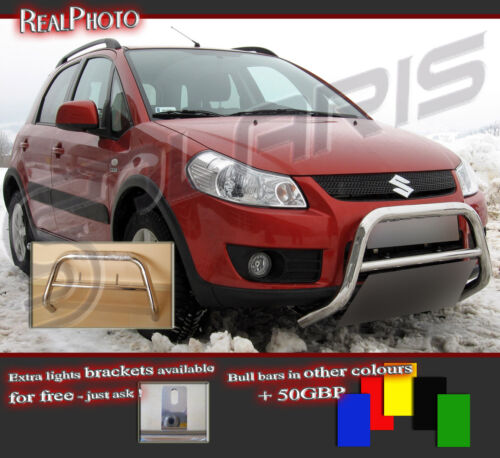 GRATIS! SUZUKI SX4 2007 LOW BULL BAR WITHOUT AXLE BARS STAINLESS STEEL!!