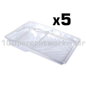 5-x-Prodec-Moulded-Plastic-Tray-Liners-for-9-034-Paint-Rollers-for-Multi-Colours