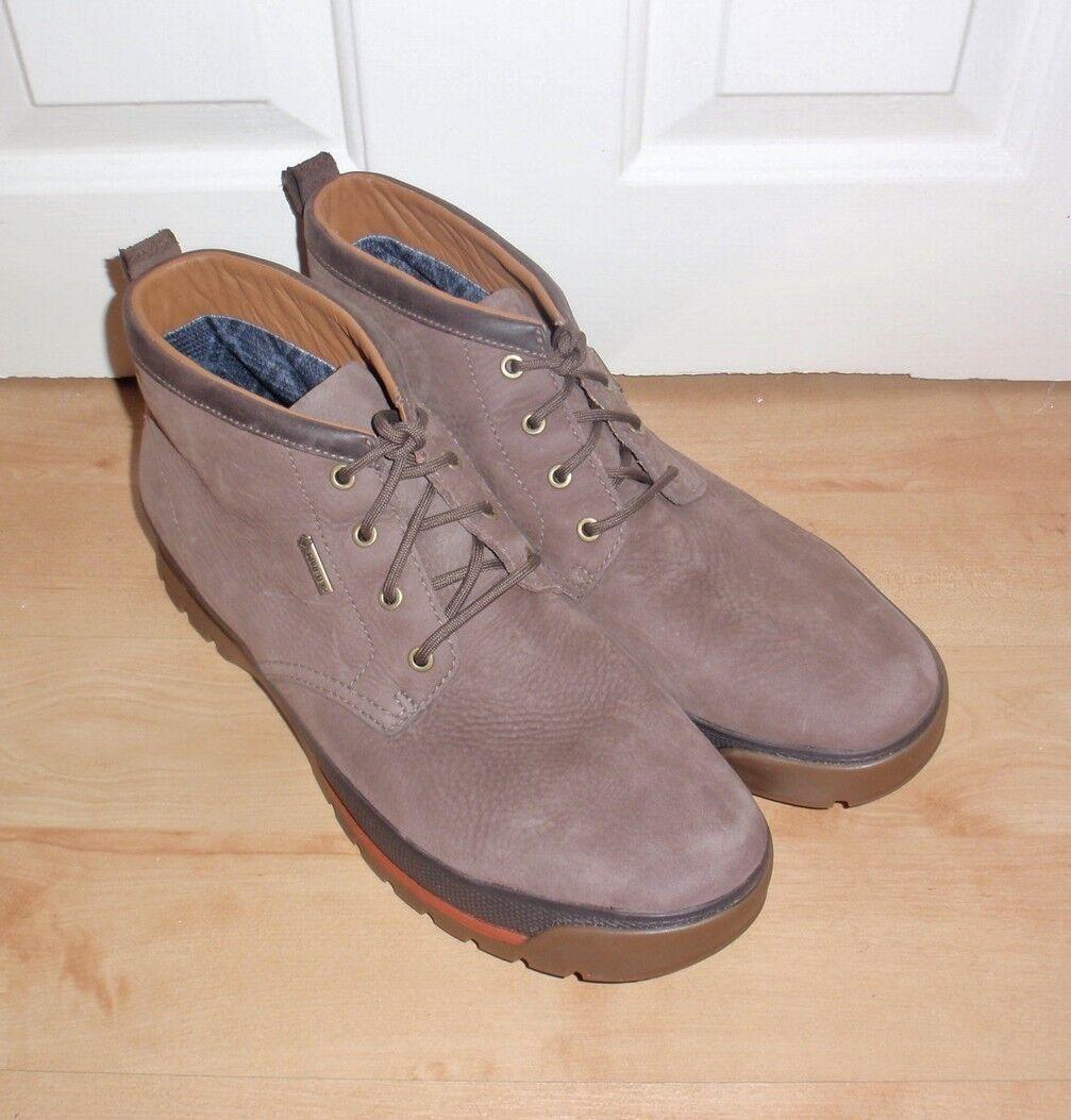 Nuevo Clarks Para hombre NARLY HILL GTX Marrón Nobuck Caminar botas De Invierno Suela De Rock