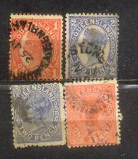 Australia States Old Stamps---Queensland
