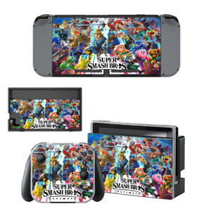 Nintendo-Switch-Skin-Sticker-Decal-Cover-Vinyl-Protector-SUPER-SMASH-BROS