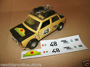 FIAT-128-SAFARI-rally-1-25-POLISTIL-POLITOYS-ADESIVI-STICKER-RESTAURO-giannini