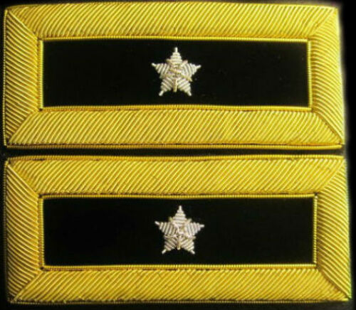 NEW US ARMY AUTHENTIC MALE 1//4 STARS GENERAL HARD SHOULDER STRAPS RANKS CP MADE