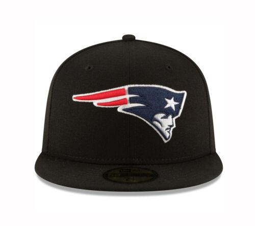 New Era 59Fifty Cap Mens NFL New England Patriots Black Custom Fitted 5950 Hat