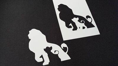 The Lion King Style Airbrush Stencils Silhouette Simba Cake Wall Home Paint Ebay