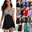 thumbnail 1 - Womens Padded Swim Dress Boy Shorts Tankini Swimwear Holiday Swimsuit Plus Size