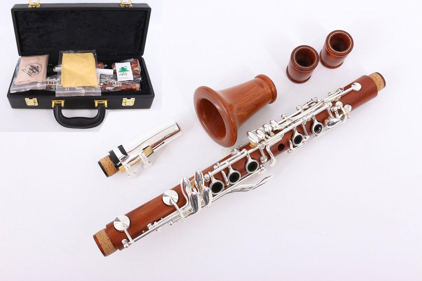 Professional Clarinet pinkwood E Key Clarinet E flat Good Sound Case 2 Barrels