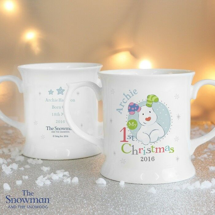 Personalised The Snowman 1st First Christmas Xmas Mug Gifts Presents Ideas Baby