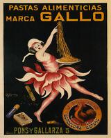 Pastas Alimenticias Gallo Spain Coq Cappiello 8x10 Vintage Poster Repro Free S/h