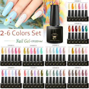 MTSSII-2-6-Bottles-Set-UV-Gel-Nail-Polish-Soak-Off-Gel-Varnish-Glitter-Nails-Art